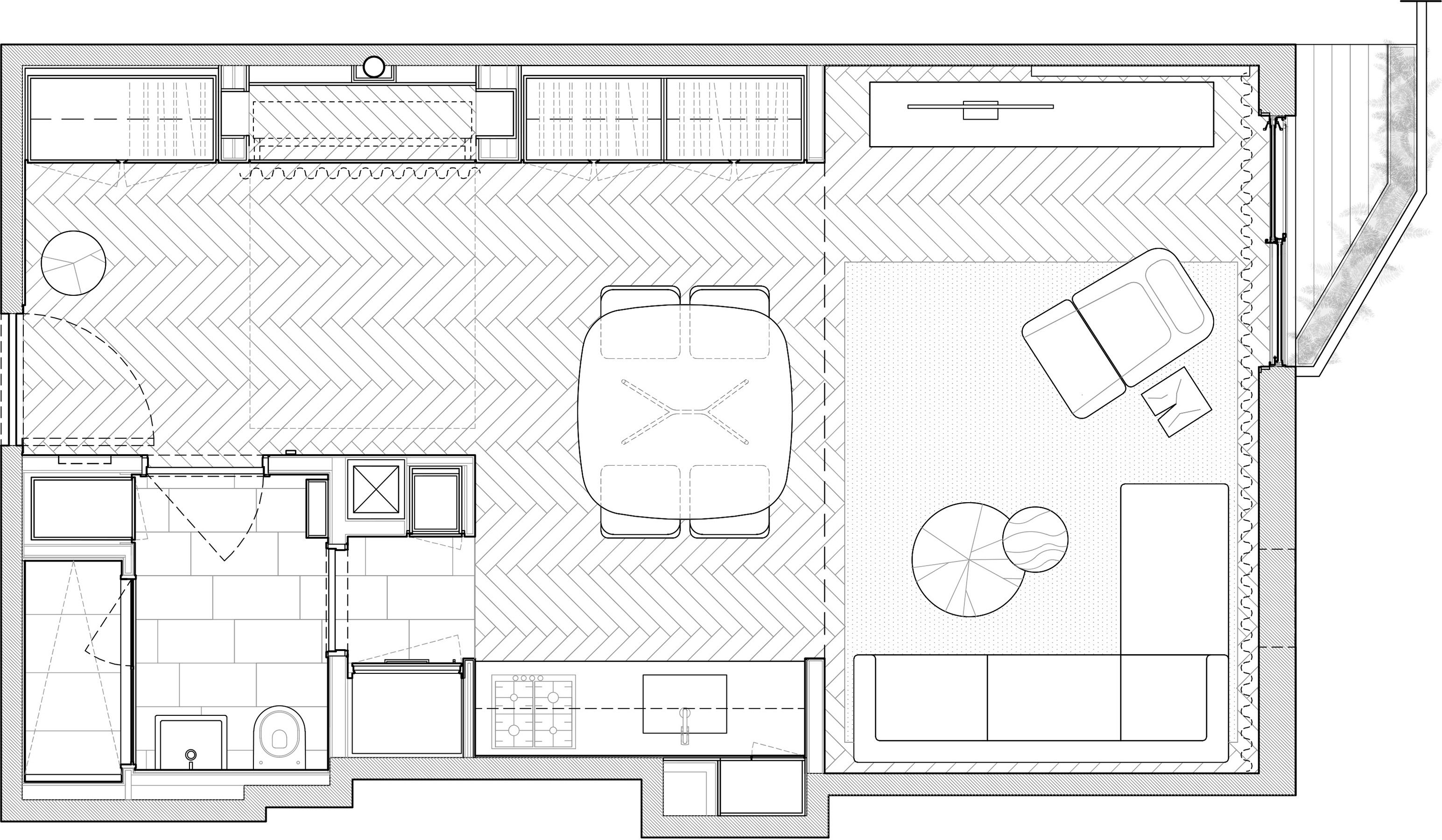 STADT Architecture, Gramercy Apartment, Floor Plan, STADT, STADT Architecture, New York City Architect, STADT