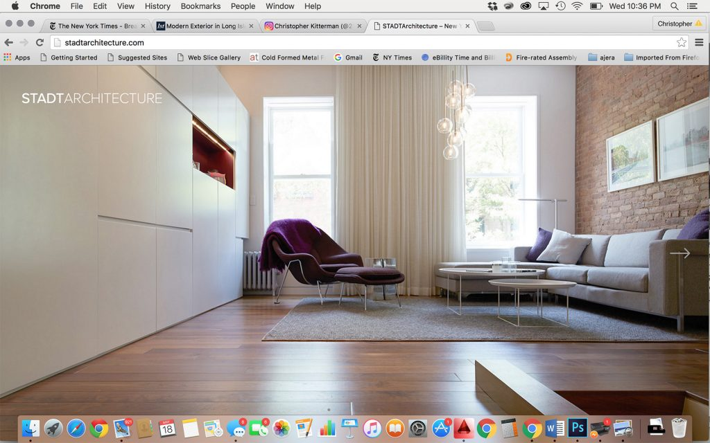 STADT Website, homepage, launch, STADT, STADT Architecture, New York City Architect, STADT