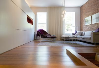 walnut, womb chair, cabinets, stadt architecture, sara-ny, design awards