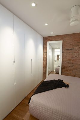 wardrobe, cabinetry, built-in, platform bed, brick, stadt architecture, christopher kitterman