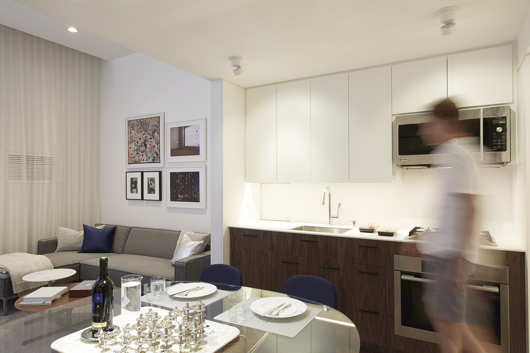 STADT Architecture, Gramercy Apartment, Walnut, Cappellini, Miele, STADT, nyc architects, ny apartment renovation