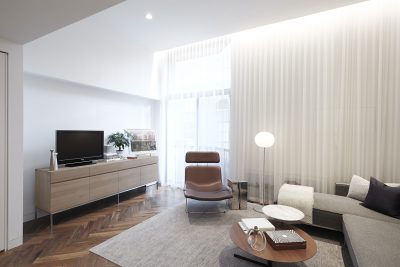 STADT Architecture, Gramercy Apartment, Cappellini, ABC Home, Walnut Floors