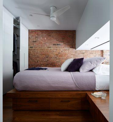 STADT Architecture, Loft, Lutron, Built-in bed, platform bed, STADT