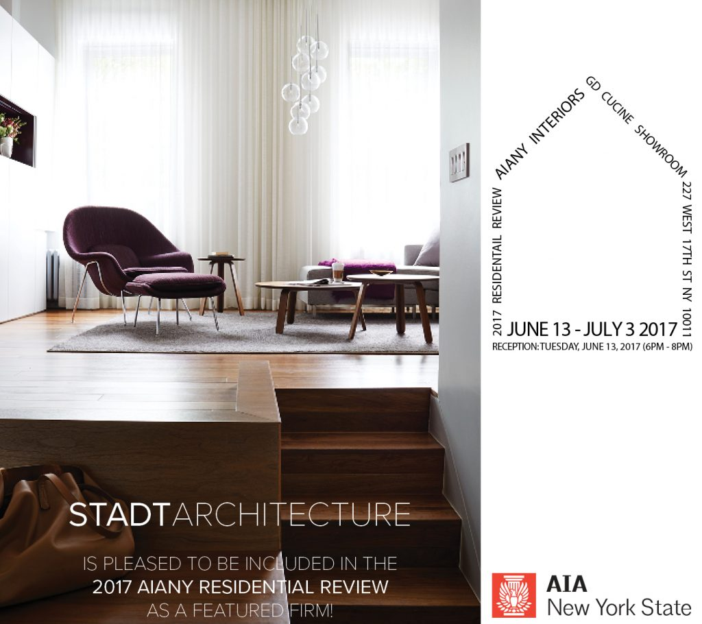 STADT, STADT Architecture, New York City Architect, AIA NY, 2017 Residential Review, nyc architects, ny apartment renovation