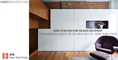 AIANY design awards, AIA, STADT, STADT Architecture