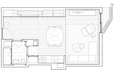 STADT Architecture, Gramercy Apartment, Floor Plan, Kitterman, STADT, nyc architects, ny apartment renovation
