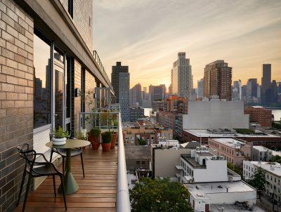 Long Island City Apartment, STADT Architecture, Custom Deck, Wood Terrace