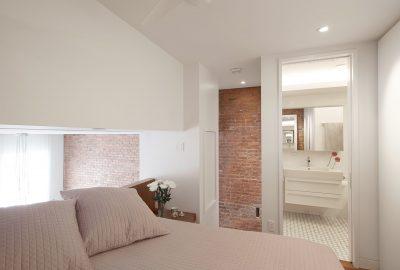 brick, platform bed, built-in, mosaic, stadt architecture, christopher kitterman, waterworks, duravit