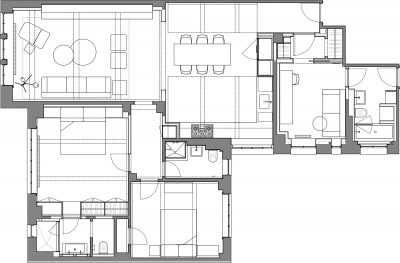 Stadt Architecture, Upper West Side Apartment II, Floor Plan, STADT, nyc architects, ny apartment renovation