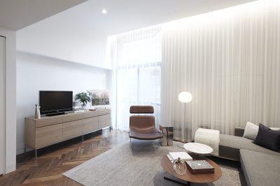 STADT Architecture, Gramercy Apartment, Cappellini, ABC Home, Walnut Floors