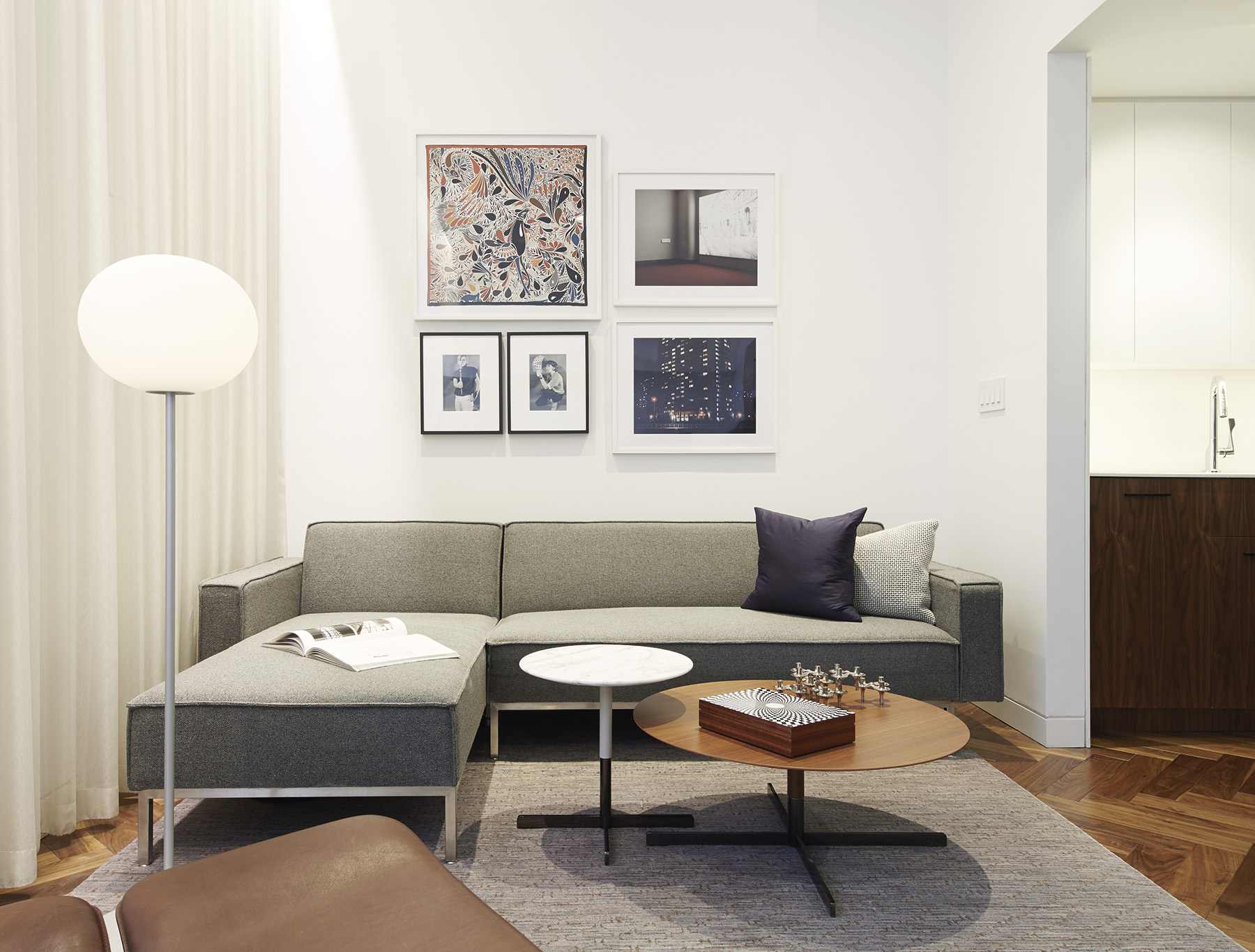 STADT Architecture, Gramercy Apartment, Cappellini, ABC Home, Walnut Floors, Cindy Sherman, Hermes, Fornasetti, STADT, Bob Tables, nyc architects, ny apartment renovation