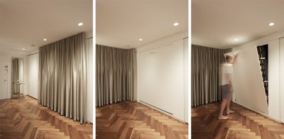 Stadt Architecture, Knoll, curtain, Hafele, Murphy Bed, STADT, nyc architects, ny apartment renovation