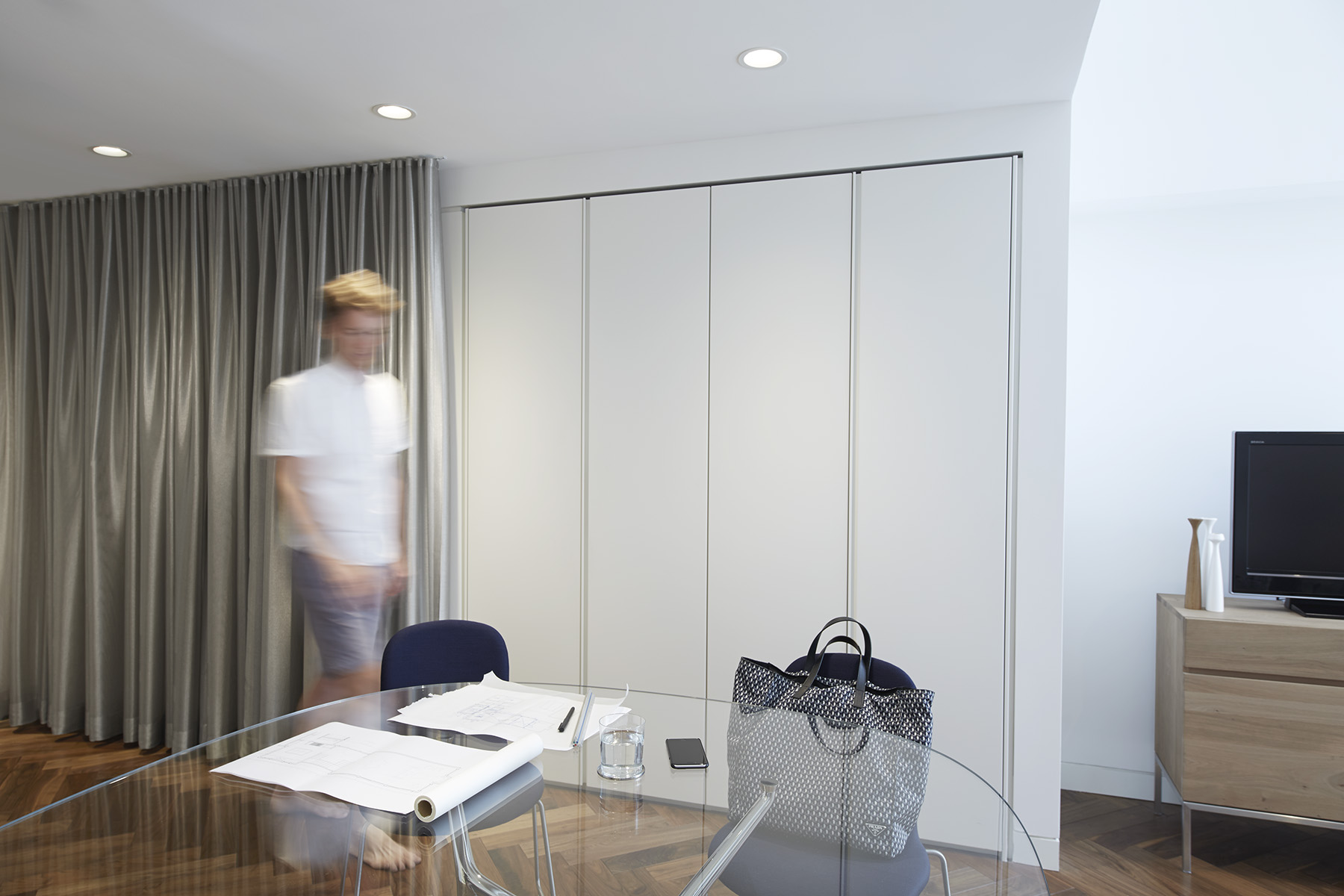 STADT Architecture, Gramercy Apartment, Kitchen, Work Space, Cappellini, Poliform, STADT, nyc architects, ny apartment renovation