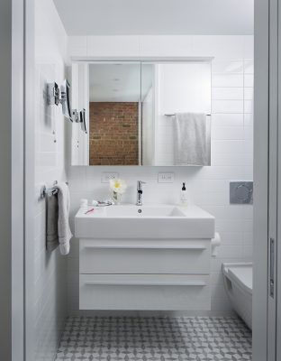 STADT Architecture, Loft, Duravit, marble mosaic, white, STADT, nyc architects, ny apartment renovation