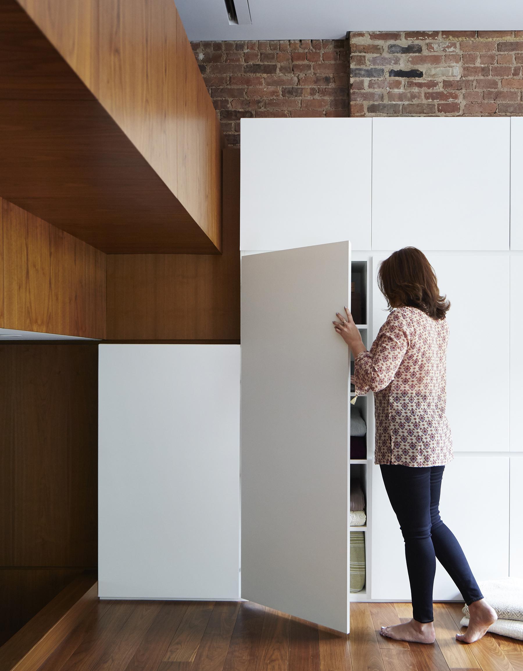 STADT Architecture, Loft, custom cabinets, walnut, STADT, nyc architects, ny apartment renovation