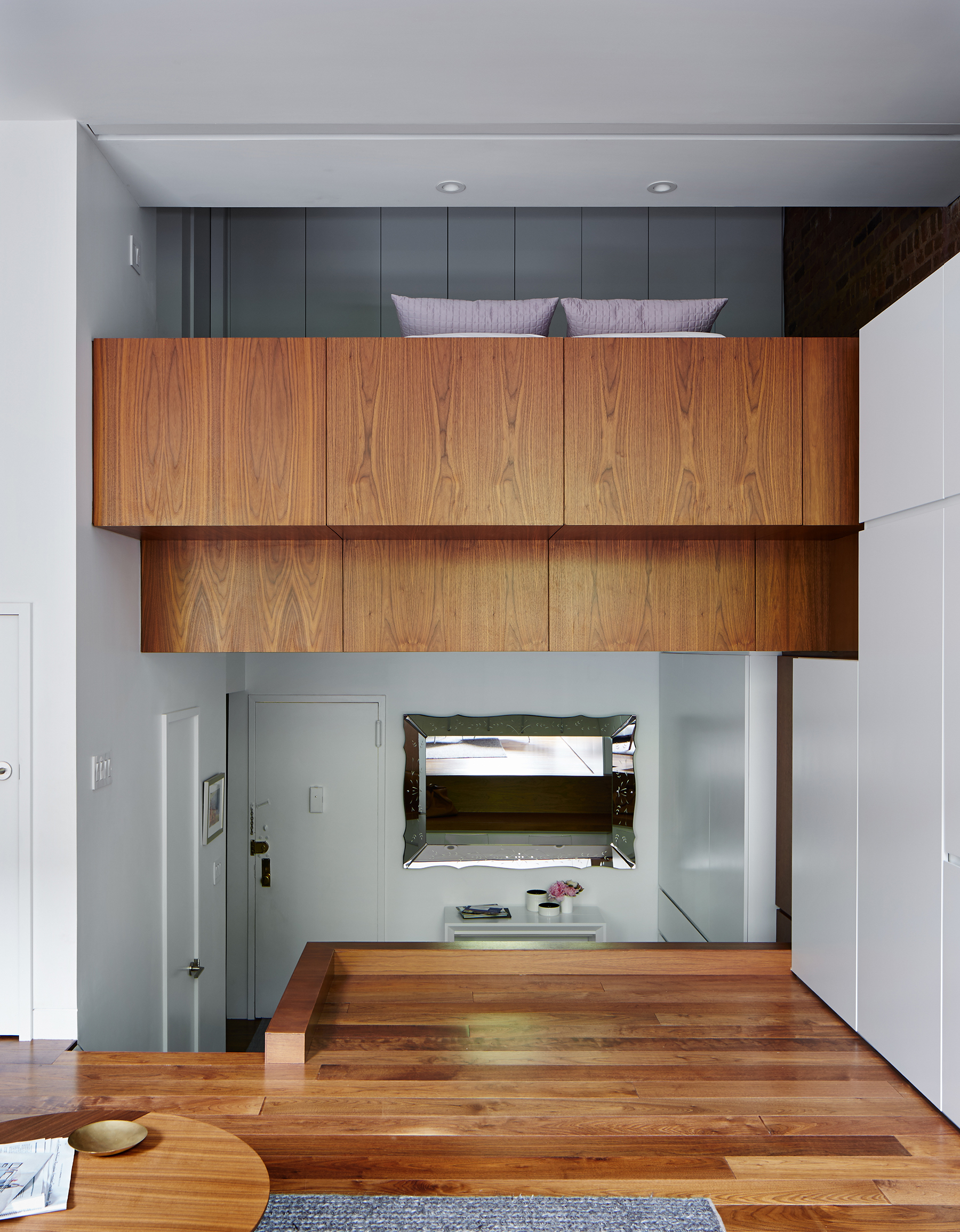 STADT Architecture, Loft, Vertical Loft, Triple Mint, walnut, cabinetry, STADT, nyc architects, ny apartment renovation
