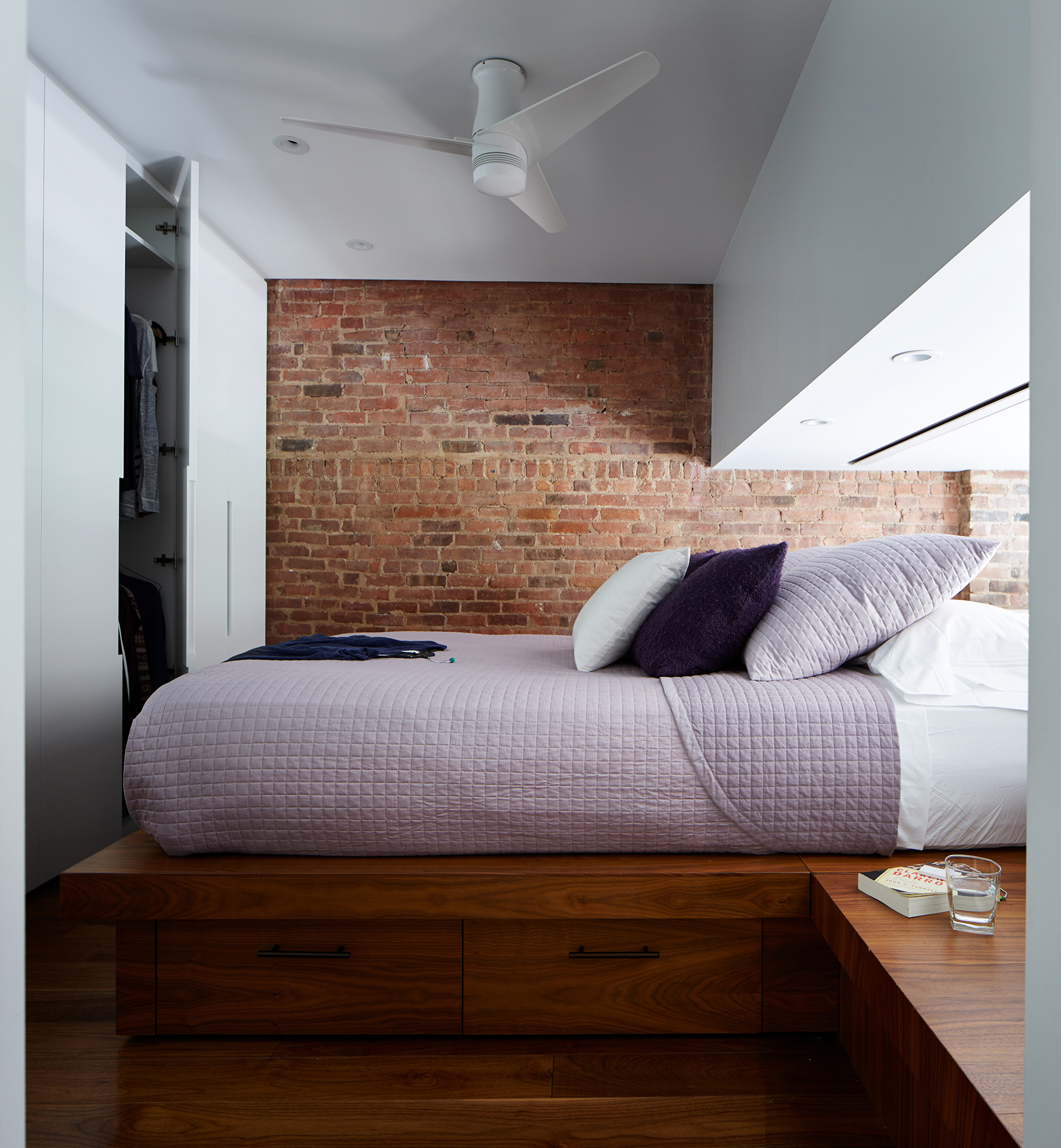 STADT Architecture, Loft, Lutron, Built-in bed, platform bed, STADT, nyc architects, ny apartment renovation