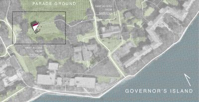 STADT Architecture, Governor's Island, Figment, Garden Shed, site plan, nyc architects