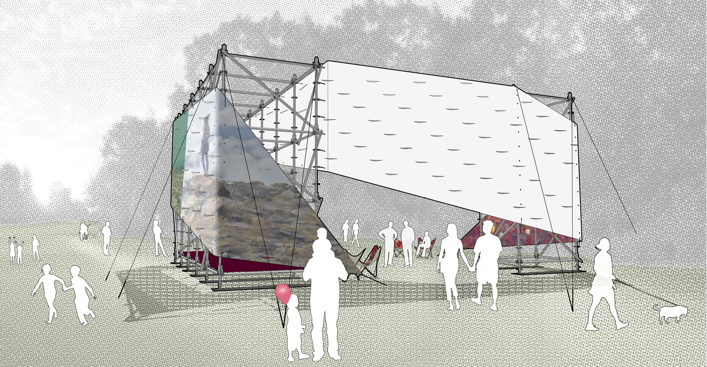 STADT Architecture, Governor's Island, Figment, Garden Shed, recycled vinyls, nyc architects